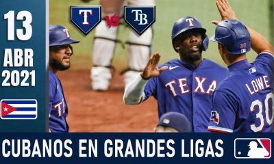 Resumen Cubanos en Grandes Ligas - 13 Abr 2021
