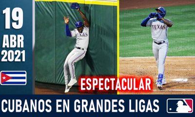 Resumen Cubanos en Grandes Ligas - 19 Abr 2021