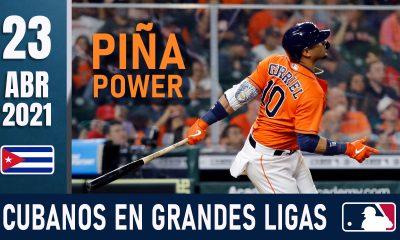 Resumen Cubanos en Grandes Ligas - 23 Abr 2021