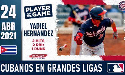Resumen Cubanos en Grandes Ligas - 24 Abr 2021