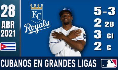 Resumen Cubanos en Grandes Ligas - 28 Abr 2021