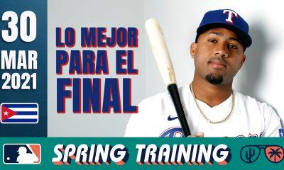 Resumen Cubanos en Grandes Ligas - 30 Mar 2021