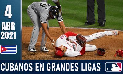 Resumen Cubanos en Grandes Ligas - 4 Abr 2021