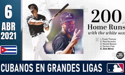 Resumen Cubanos en Grandes Ligas - 6 Abr 2021