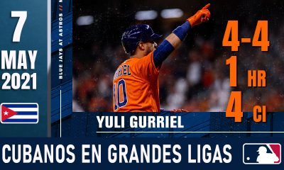 Resumen Cubanos en Grandes Ligas - 7 May 2021
