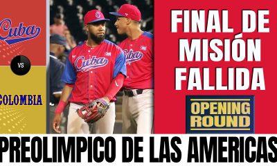 Cuba vs Colombia - Preolimpico de las Americas de Beisbol 2021