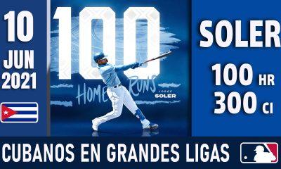 Resumen Cubanos en Grandes Ligas - 10 Jun 2021