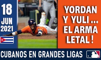 Resumen Cubanos en Grandes Ligas - 18 Jun 2021