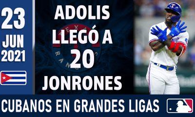 Resumen Cubanos en Grandes Ligas - 23 Jun 2021