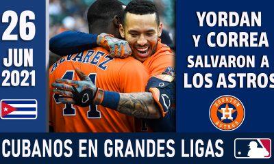 Resumen Cubanos en Grandes Ligas - 26 Jun 2021