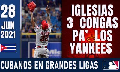 Resumen Cubanos en Grandes Ligas - 28 Jun 2021
