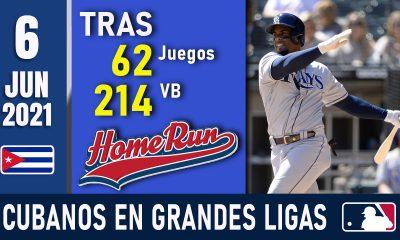Resumen Cubanos en Grandes Ligas - 6 Jun 2021