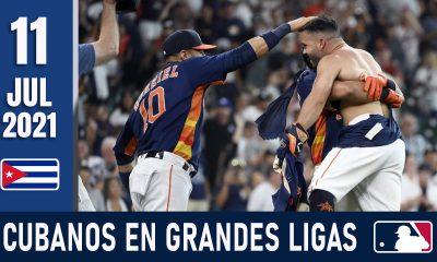 Resumen Cubanos en Grandes Ligas - 11 Jul 2021