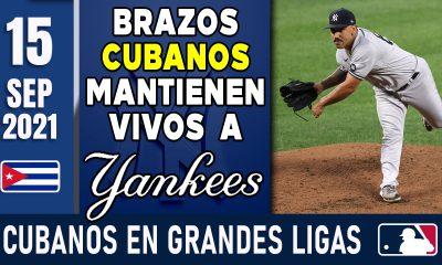 Resumen Cubanos en Grandes Ligas - 15 Sep 2021
