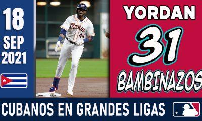 Resumen Cubanos en Grandes Ligas - 18 Sep 2021