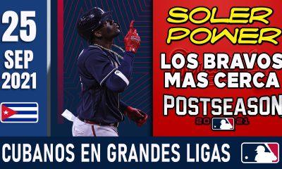 Resumen Cubanos en Grandes Ligas - 25 Sep 2021
