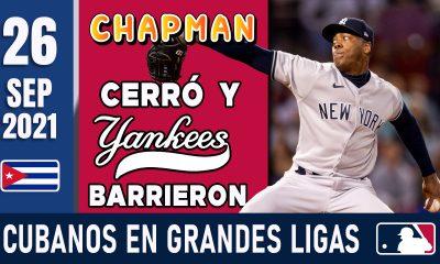 Resumen Cubanos en Grandes Ligas - 26 Sep 2021