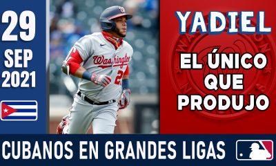 Resumen Cubanos en Grandes Ligas - 29 Sep 2021