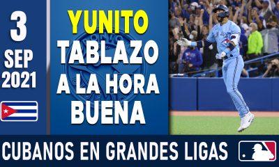 Resumen Cubanos en Grandes Ligas - 3 Sep 2021