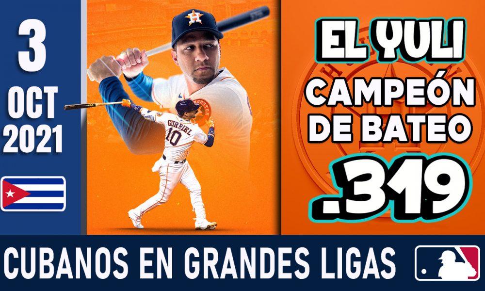 Resumen Cubanos en Grandes Ligas - 3 Oct 2021