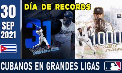 Resumen Cubanos en Grandes Ligas - 30 Sep 2021